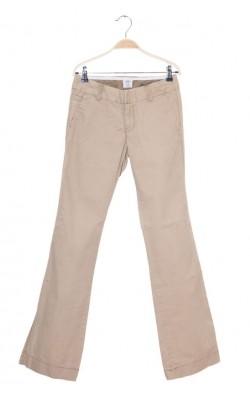 Pantaloni bej croi drept H&M L.o.g.g., marime 34