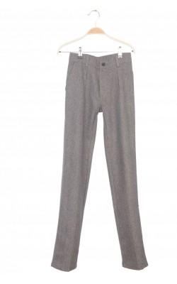 Pantaloni bej cu bleumarin Levi's, stofa lana, 12 ani