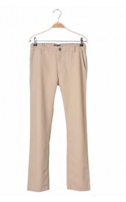 Pantaloni bej Cubus, bumbac, talie ajustabila, 12 ani