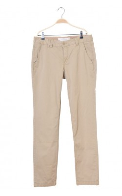 Pantaloni bej din bumbac H&M L.o.g.g., marime 42