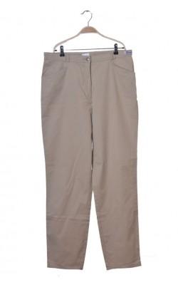 Pantaloni bej Mirage, croi drept, marime 46