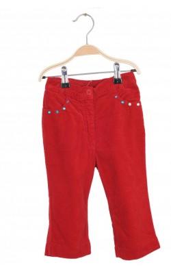 Pantaloni catifea rosie Benetton, 18-24 luni
