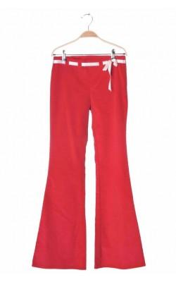 Pantaloni Benetton, velur, 12-14 ani