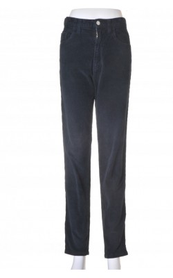 Pantaloni velur negru Benetton, marime 36