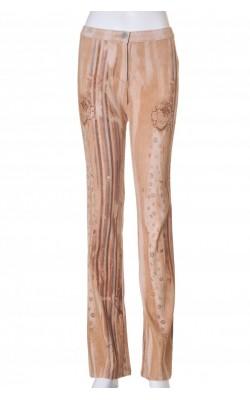 Pantaloni Benetton, velur stretch, marime 34