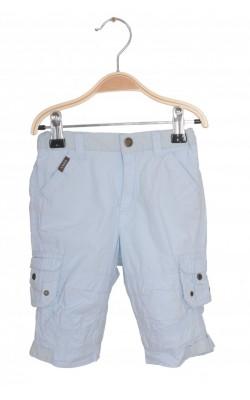 Pantaloni bleu H&M L.O.G.G, captusiti, 4-6 luni