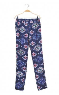 Pantaloni bleumarin cu imprimeu Jacqueline de Young, marime 36