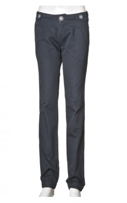 Pantaloni bleumarin cu pense Bershka, marime 34