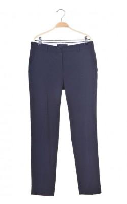 Pantaloni bleumarin office Mango, marime 40