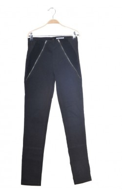 Pantaloni bumbac decor catifea Bruuns Bazaar, marime 34
