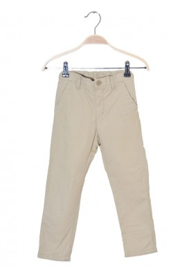 Pantaloni bumbac H&M, talie ajustabila, 4-5 ani