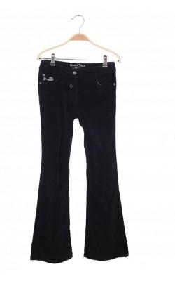Pantaloni negri din catifea reiata C&A, 11 ani