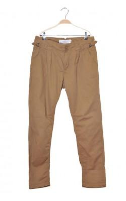Pantaloni camel cu pense H&M L.o.g.g., marime 44
