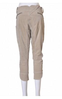Pantaloni capri Paola Frani, catifea bej, marime 38