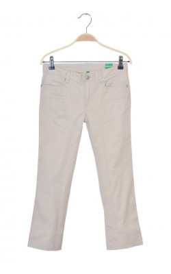 Pantaloni capri slim stretch Benetton, talie ajustabila, 10-11 ani