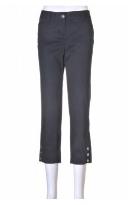 Pantaloni capri Slim White Black, marime 36