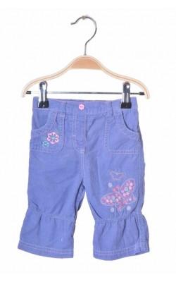 Pantaloni catifea reiata mov M&Co, 3-6 luni