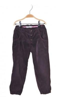 Pantaloni catifea reiata mov Name It, talie ajustabila, 3 ani