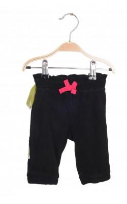 Pantaloni Circo, fleece negru, 3 luni