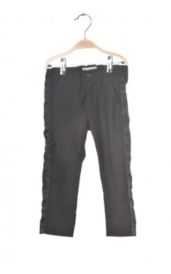 Pantaloni costum cu vipusca satin H&M, 2-3 ani