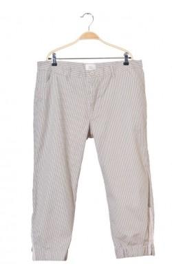 Pantaloni crem cu imprimeu gri Tara, marime 46