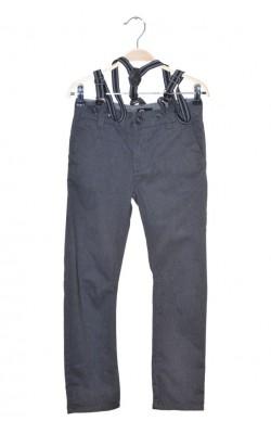 Pantaloni cu bretele detasabile Cubus, talie ajustabila, 9 ani