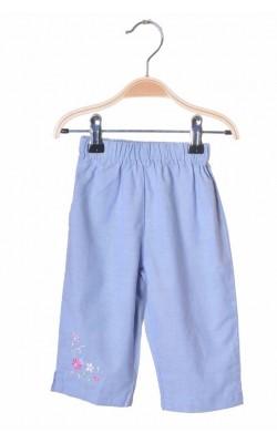 Pantaloni cu broderie Petit Cadeau, 3-6 luni