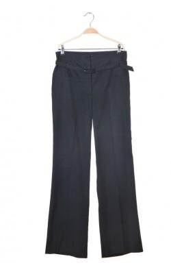 Pantaloni cu talie inalta si curea MangoSuit, marime 40