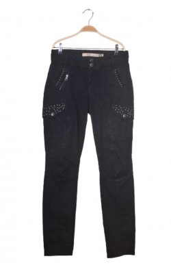 Pantaloni Culture, buzunare cu decor metal marime 38