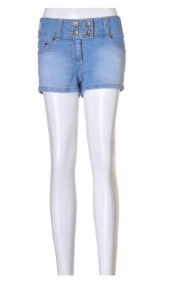 Pantaloni denim bleu Yom Yom, marime 36