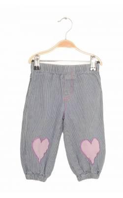 Pantaloni denim in dungi Halling, inimioare aplicate, 3 ani