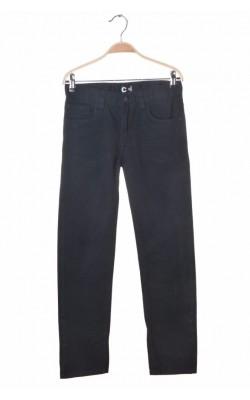 Pantaloni denim negru Cubus, talie ajustabila, 12 ani