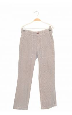 Pantaloni denim subtire in dungi Gap, talie ajustabila, 12 ani