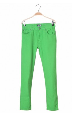 Pantaloni denim verde C by Cubus, talie ajustabila, 11 ani
