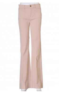 Pantaloni din denim bej H&M Divided, stretch, marime 34