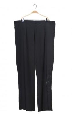 Pantaloni eleganti cu broderie Deluca, marime 52