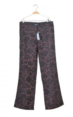 Pantaloni eleganti din brocart Womens Concept, croi drept, marime 42