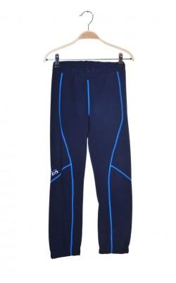 Pantaloni fleece bleumarin cusaturi bleu, 10 ani