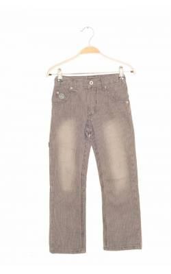 Pantaloni Fransa, denim dungi, talie ajustabila, 7 ani