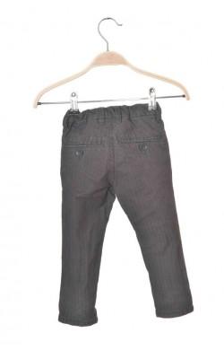 Pantaloni gri cu dungi albe Kappahl, talie ajustabila, 3 ani