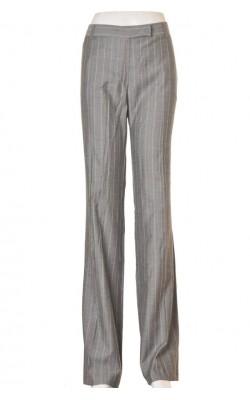 Pantaloni gri cu dungi bej Tara, marime 44
