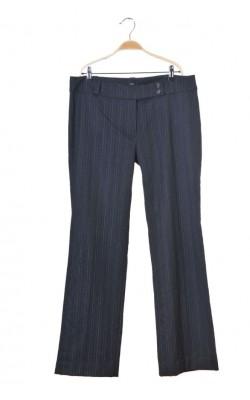 Pantaloni gri cu dungi fine gri si albe Tara, marime 46