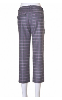 Pantaloni gri cu dungi lila Peserico, stofa lana, marime 36