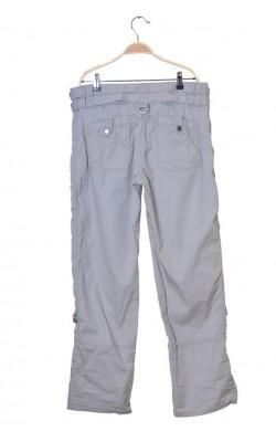Pantaloni gri din bumbac Next, lungime ajustabila, marime 46