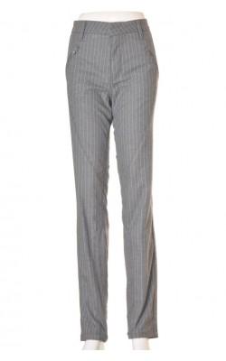 Pantaloni gri dungi fine albe 2-Biz, marime 44