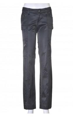 Pantaloni satin negru stretch Guess, marime 36