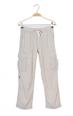 Pantaloni H&M L.o.g.g., bumbac si in, lungime ajustabila, 8-9 ani