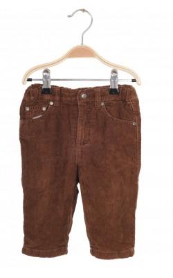 Pantaloni H&M L.O.G.G., velur, captusiti, 6-9 luni