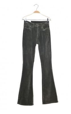 Pantaloni kaki din velur stretch Floyd by Smith, marime 34.