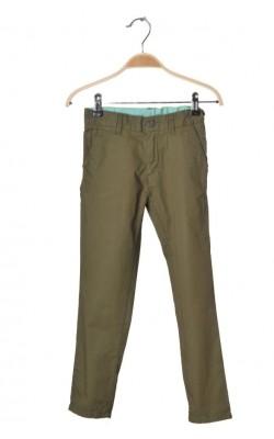 Pantaloni kaki H&M, talie ajustabila, 7-8 ani
